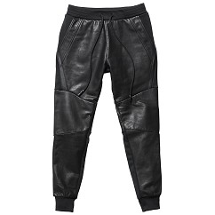 LEATHER JERSEY PANTS