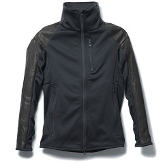 LEATHER JERSEY JACKET