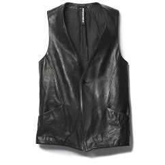 HORSE LEATHER MIDDLE LENGTH GILET
